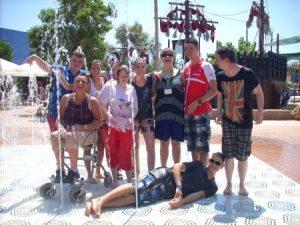 Gruppe um Marian Kube auf Mallorca