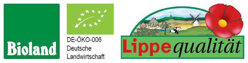 Logo Bioland, DE-Öko-006, Lippe Qualität