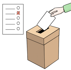 Bild: Ein Abstimmungsformular