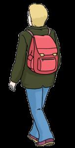 Bild: Mann mit Rucksack