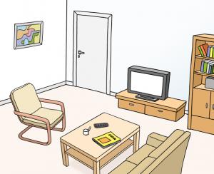 Bild von einem eingerichteten Zimmer