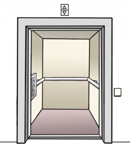 Bild von einem Fahrstuhl