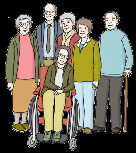 Bild von einer Gruppe Menschen