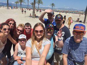 Gruppenfoto mit Magda auf Mallorca