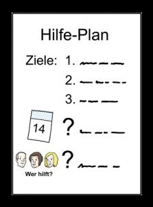 Bild: Ein Hilfe-Plan