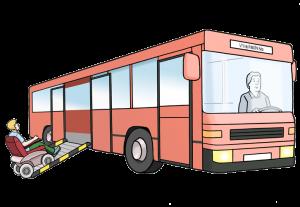 Bild: Linienbus mit Rampe