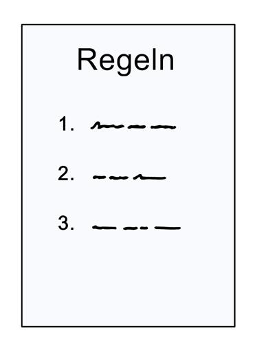 Grafik: Liste mit Regeln