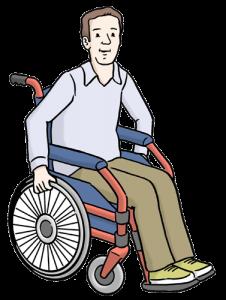 Bild: Ein Rollstuhlfahrer