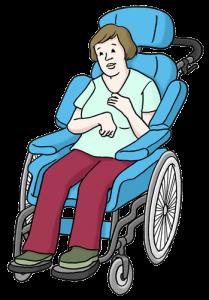 Bild von einem pflegebedürftigen Menschen