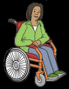 Bild von einer Rollstuhlfahrerin