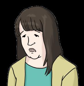 Bild: Eine Frau mit einem traurigen Gesicht