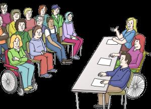 Bild von einer Vereins-Sitzung