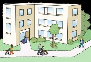 Bild von einer Wohnstätte für Menschen mit Behinderung