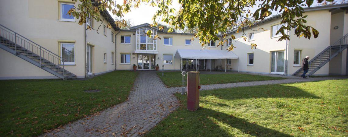 Foto: Innenhof der Wohnstätte Lohmannshof